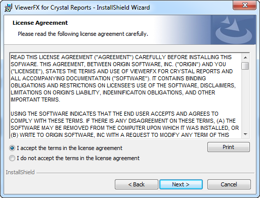 Read the license agreement