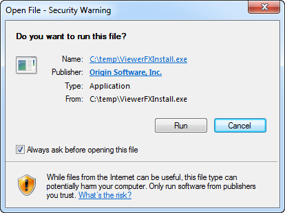 Step 1: Open install file